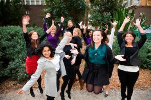 2011 interns having fun during photo shoot