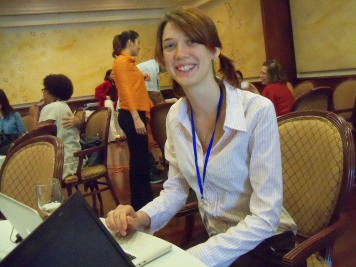 Elisabeth at the Regional Child Protection Network meeting in the Dominican Republic