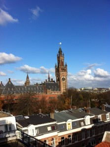 View of the Peace Palace from our office balcony