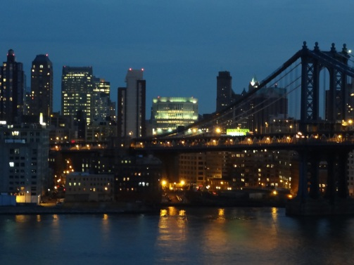 The Manhattan Bridge, looking into Brooklyn