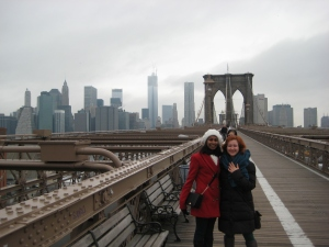 Ellyse and I on the Brooklyn Bridge (make sure you check out her blogs too)