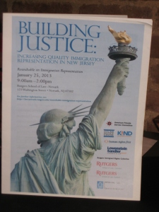 """Program for the """"Building Justice"""" conference"""