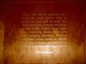 Engraving at Human Rights First