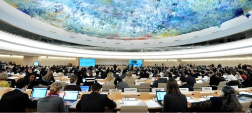 Room XX, Human Rights Council.